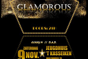 GLAMOROUS fuif affiche